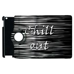 Black an white  Chill out  Apple iPad 3/4 Flip 360 Case Front