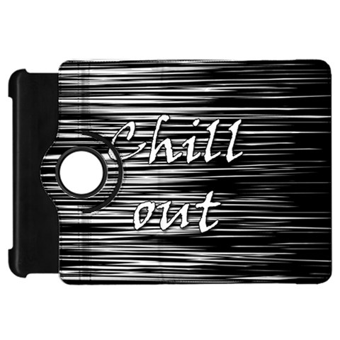 Black an white  Chill out  Kindle Fire HD Flip 360 Case
