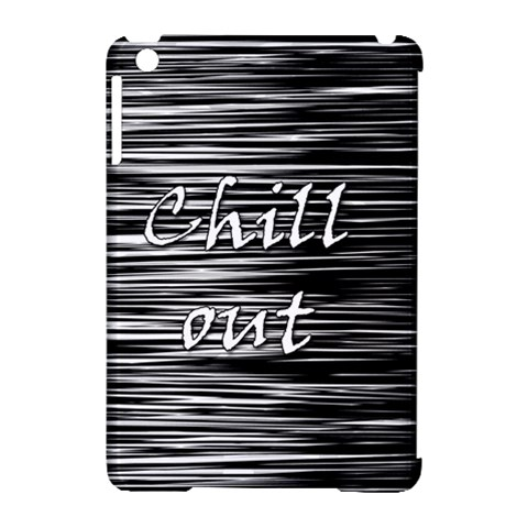 Black an white  Chill out  Apple iPad Mini Hardshell Case (Compatible with Smart Cover)