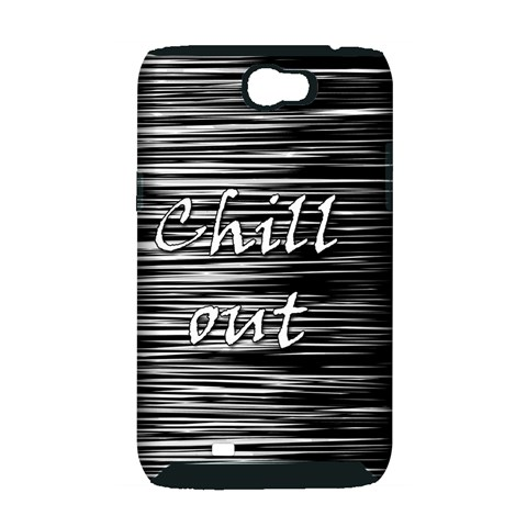 Black an white  Chill out  Samsung Galaxy Note 2 Hardshell Case (PC+Silicone)