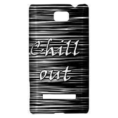 Black an white  Chill out  HTC 8S Hardshell Case