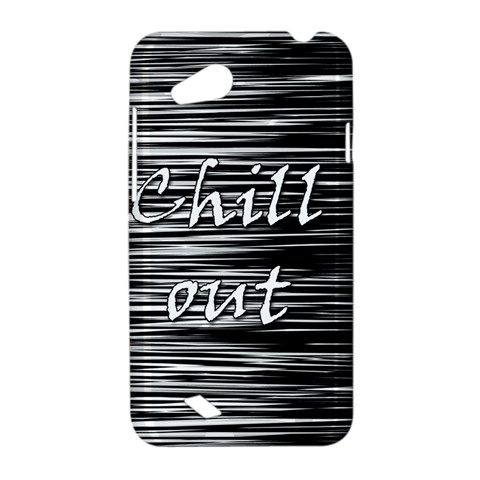 Black an white  Chill out  HTC Desire VC (T328D) Hardshell Case