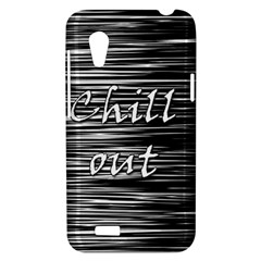 Black an white  Chill out  HTC Desire VT (T328T) Hardshell Case