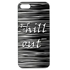 Black An White  chill Out  Apple Iphone 5 Hardshell Case With Stand