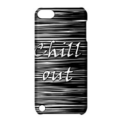 Black an white  Chill out  Apple iPod Touch 5 Hardshell Case with Stand