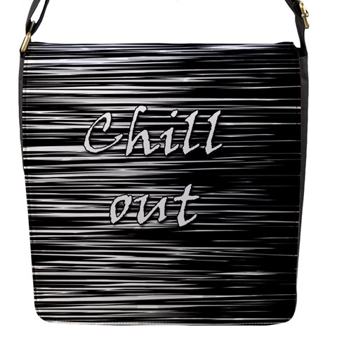 Black an white  Chill out  Flap Messenger Bag (S)