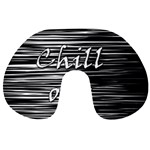 Black an white  Chill out  Travel Neck Pillows Front