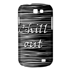 Black an white  Chill out  Samsung Galaxy Express I8730 Hardshell Case