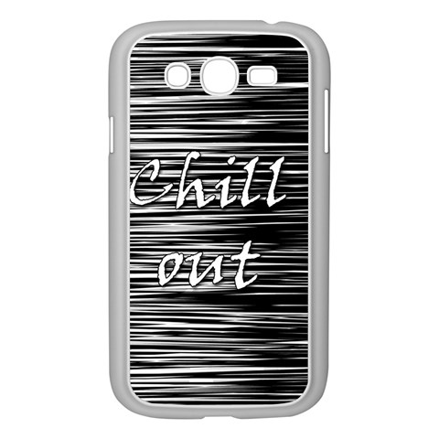 Black an white  Chill out  Samsung Galaxy Grand DUOS I9082 Case (White)