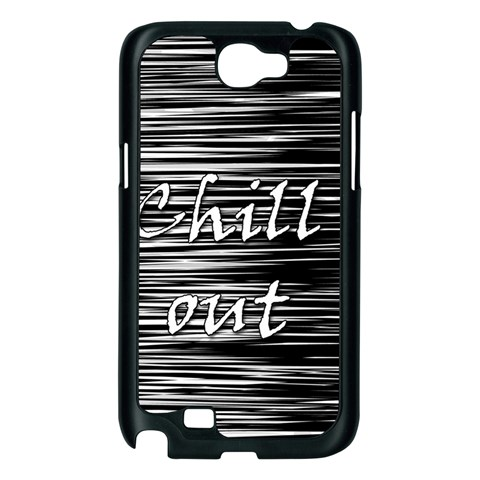 Black an white  Chill out  Samsung Galaxy Note 2 Case (Black)