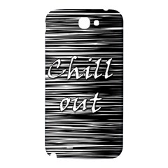 Black an white  Chill out  Samsung Note 2 N7100 Hardshell Back Case