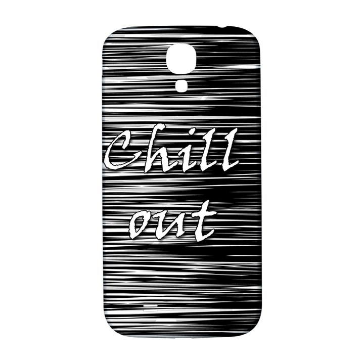 Black an white  Chill out  Samsung Galaxy S4 I9500/I9505  Hardshell Back Case
