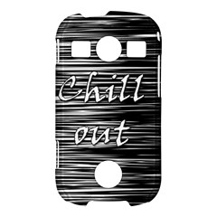 Black an white  Chill out  Samsung Galaxy S7710 Xcover 2 Hardshell Case