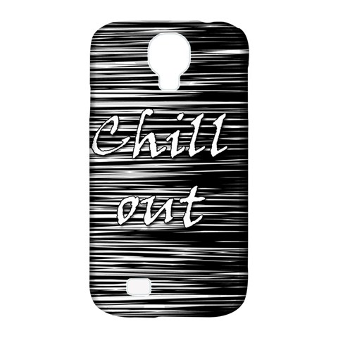 Black an white  Chill out  Samsung Galaxy S4 Classic Hardshell Case (PC+Silicone)