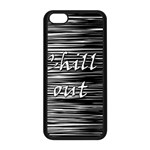 Black an white  Chill out  Apple iPhone 5C Seamless Case (Black) Front