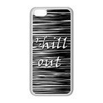 Black an white  Chill out  Apple iPhone 5C Seamless Case (White) Front