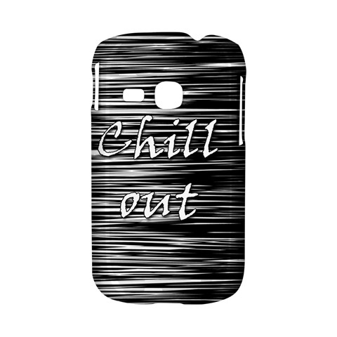 Black an white  Chill out  Samsung Galaxy S6310 Hardshell Case
