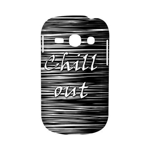 Black an white  Chill out  Samsung Galaxy S6810 Hardshell Case