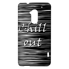 Black an white  Chill out  HTC One Max (T6) Hardshell Case