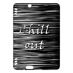 Black An White  chill Out  Kindle Fire Hdx Hardshell Case