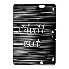 Black An White  chill Out  Kindle Fire Hdx 8 9  Hardshell Case