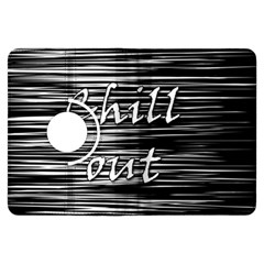 Black An White  chill Out  Kindle Fire Hdx Flip 360 Case