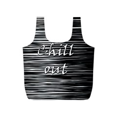 Black an white  Chill out  Full Print Recycle Bags (S)