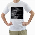 Black an white  Chill out  Men s T-Shirt (White)  Front