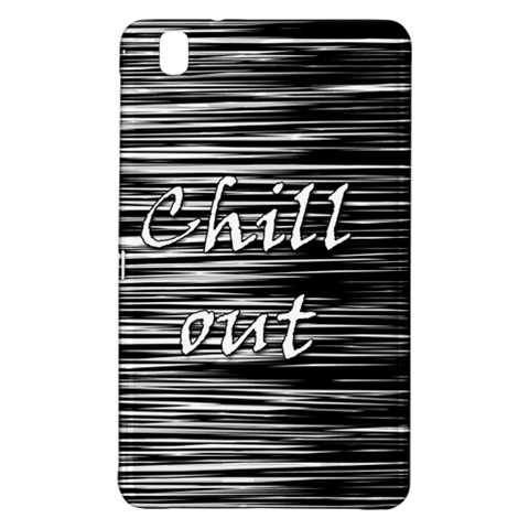 Black an white  Chill out  Samsung Galaxy Tab Pro 8.4 Hardshell Case