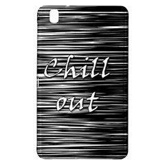 Black An White  chill Out  Samsung Galaxy Tab Pro 8 4 Hardshell Case