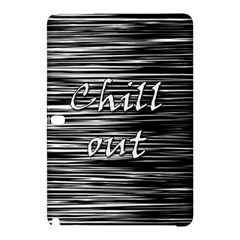 Black An White  chill Out  Samsung Galaxy Tab Pro 12 2 Hardshell Case