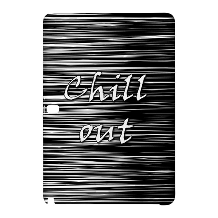Black an white  Chill out  Samsung Galaxy Tab Pro 12.2 Hardshell Case