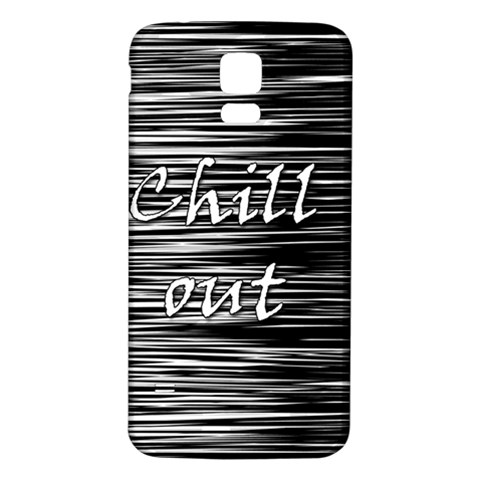 Black an white  Chill out  Samsung Galaxy S5 Back Case (White)