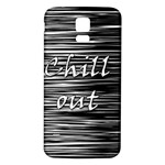 Black an white  Chill out  Samsung Galaxy S5 Back Case (White) Front