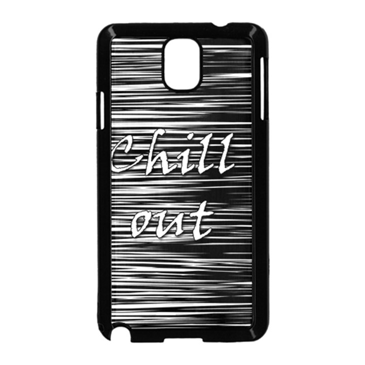 Black an white  Chill out  Samsung Galaxy Note 3 Neo Hardshell Case (Black)