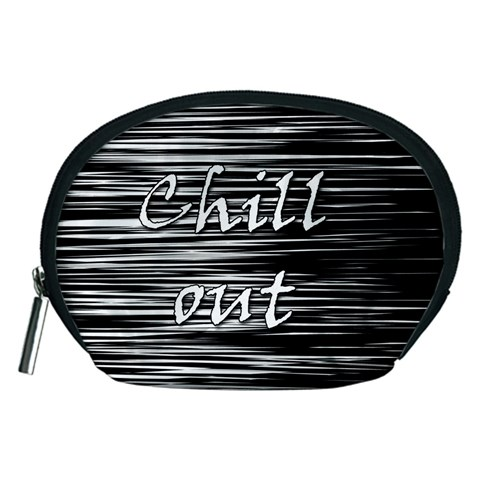 Black an white  Chill out  Accessory Pouches (Medium)