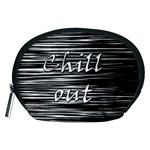 Black an white  Chill out  Accessory Pouches (Medium)  Front
