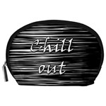 Black an white  Chill out  Accessory Pouches (Large)  Front