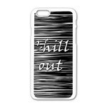 Black an white  Chill out  Apple iPhone 6/6S White Enamel Case Front
