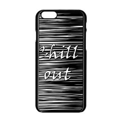 Black an white  Chill out  Apple iPhone 6/6S Black Enamel Case