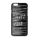 Black an white  Chill out  Apple iPhone 6/6S Black Enamel Case Front
