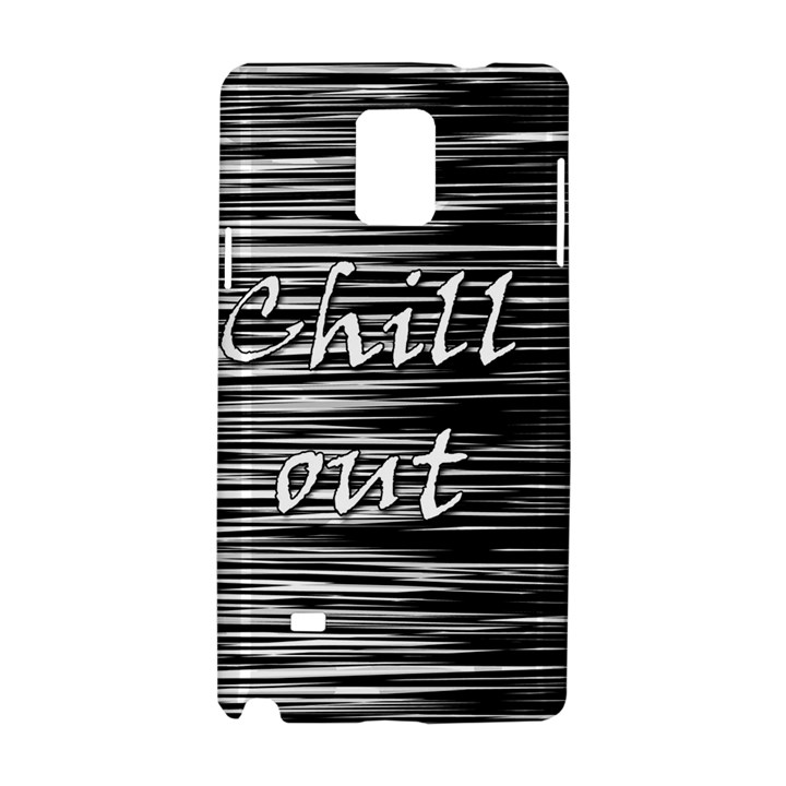 Black an white  Chill out  Samsung Galaxy Note 4 Hardshell Case
