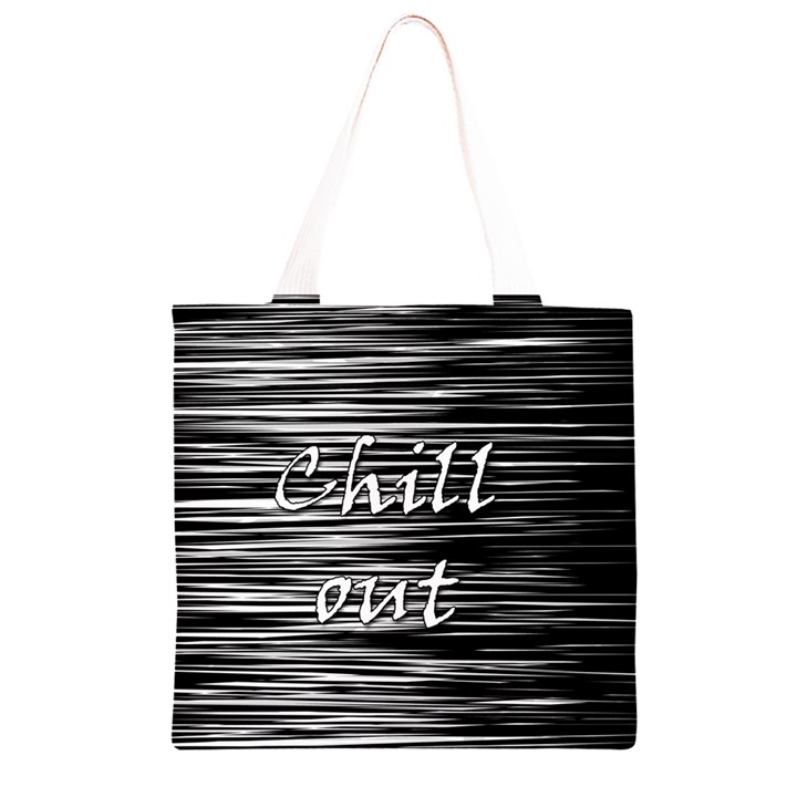 Black an white  Chill out  Grocery Light Tote Bag