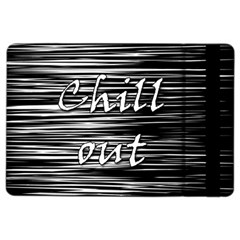 Black An White  chill Out  Ipad Air 2 Flip