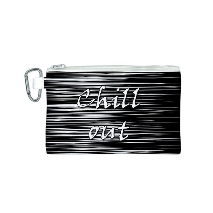 Black an white  Chill out  Canvas Cosmetic Bag (S)