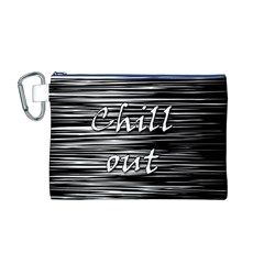 Black an white  Chill out  Canvas Cosmetic Bag (M)