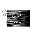 Black an white  Chill out  Canvas Cosmetic Bag (M) Front
