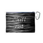 Black an white  Chill out  Canvas Cosmetic Bag (M) Back
