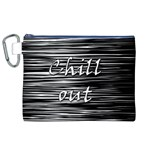 Black an white  Chill out  Canvas Cosmetic Bag (XL) Front