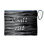 Black an white  Chill out  Canvas Cosmetic Bag (XL) Back